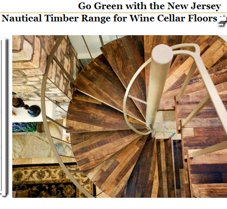 Hardwood Flooring Made of Nautical Timbers