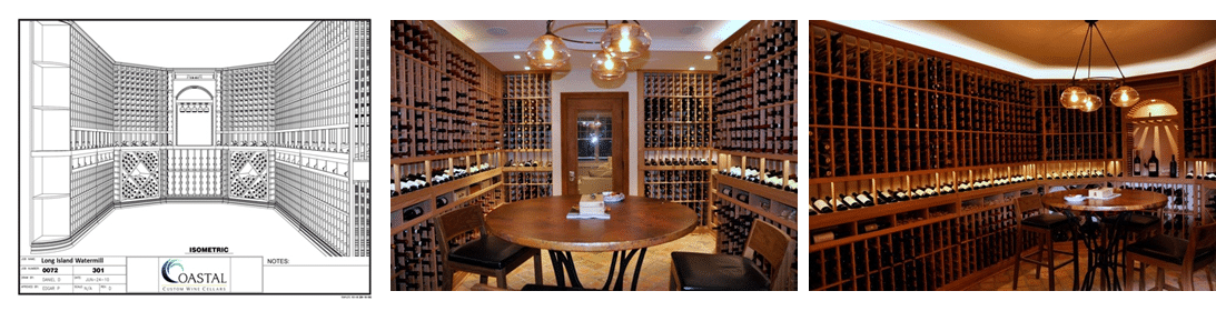 Custom Wine Cellars New York Project in Watermill