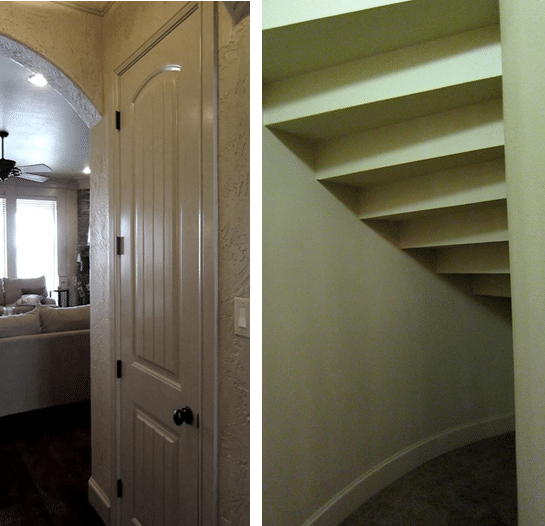 Before - A Circular Closet Under the Stairs
