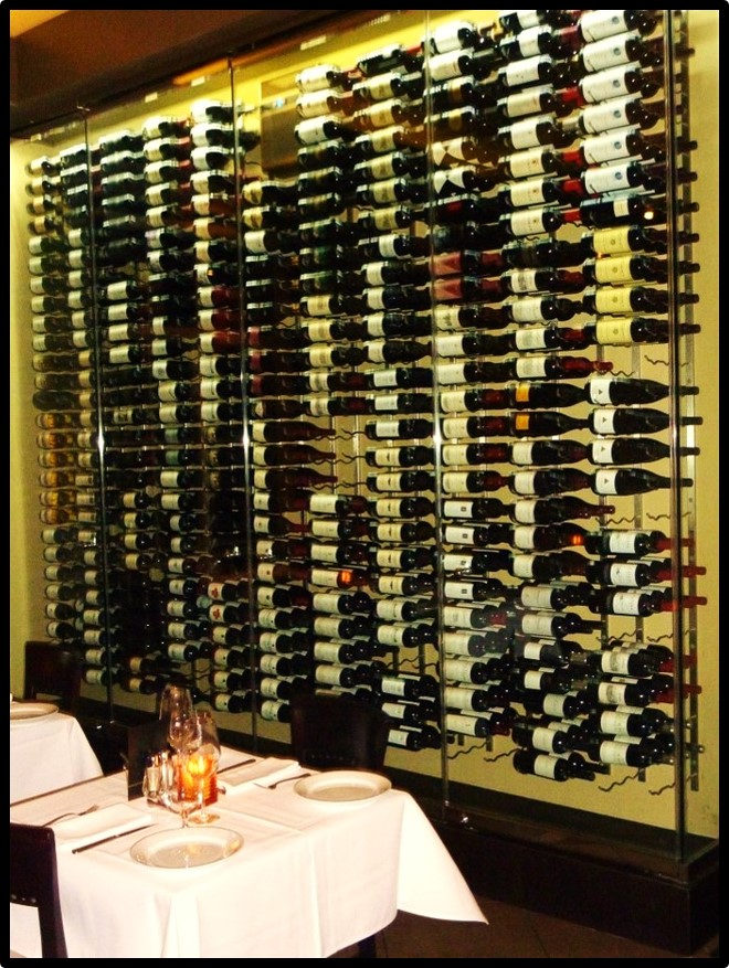 Commercial Wine Display by Coastal Custom Wine Cellars