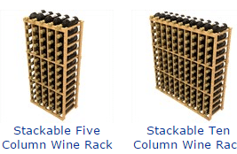 Stackable Wooden Wine Racks