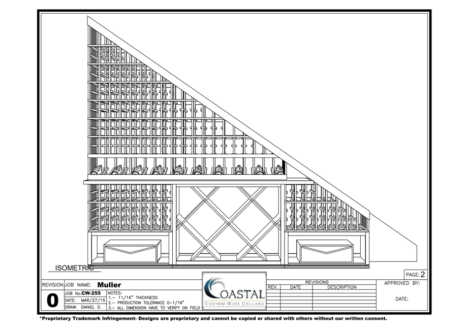 New Jersey wine cellar blueprint