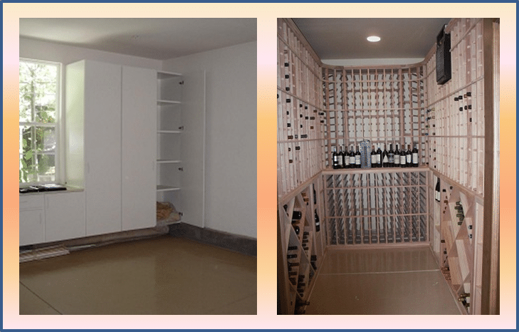 Residential wine room conversion in new jersey and texas - Wine cellar designs for small spaces ...